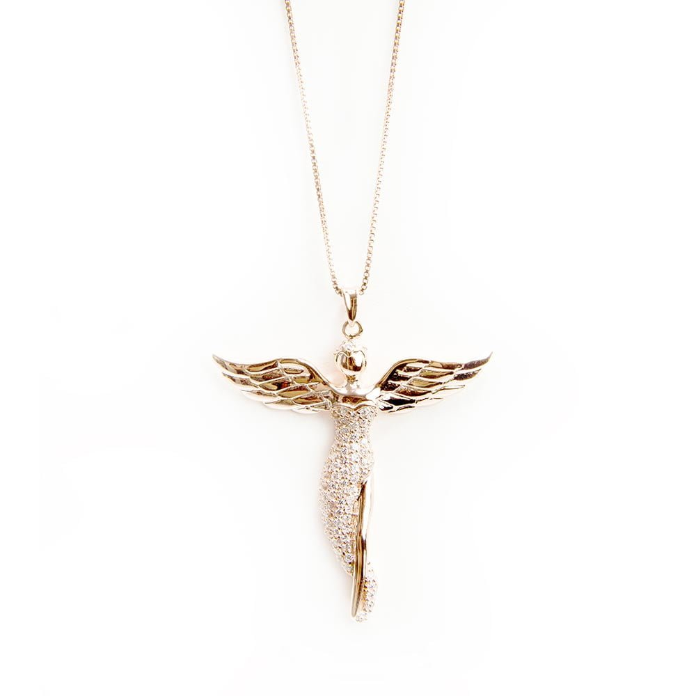 pendant mariana j spencer guardian products necklace angel champagne